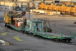 American locomotive crane 262059 and green friends sleep on the load test spur
