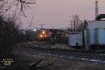 CN power leads oil empties west from the Milwaukee to the Adams subdivision